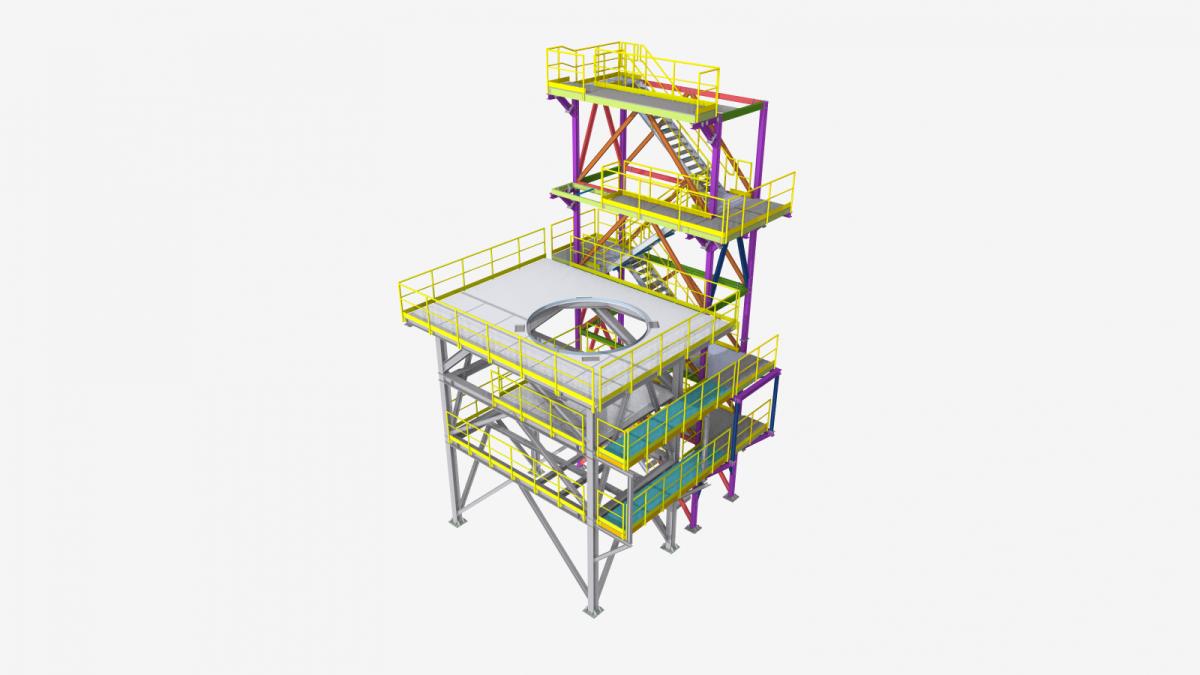 Estructura soporte filtro industrial